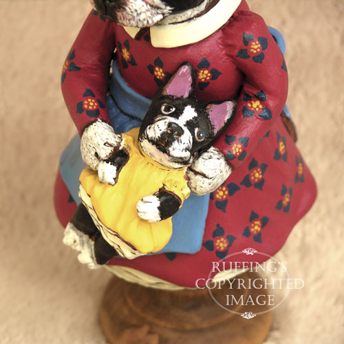 Prudence the Boston Terrier, Original One-of-a-kind Dog Art Doll Figurine by artist Max Bailey
