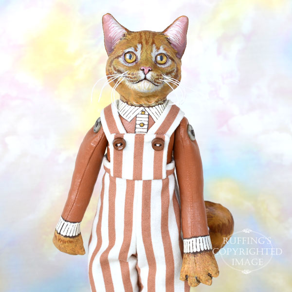 Randolf, Original One-of-a-kind Ginger Tabby Cat Art Doll by Max Bailey