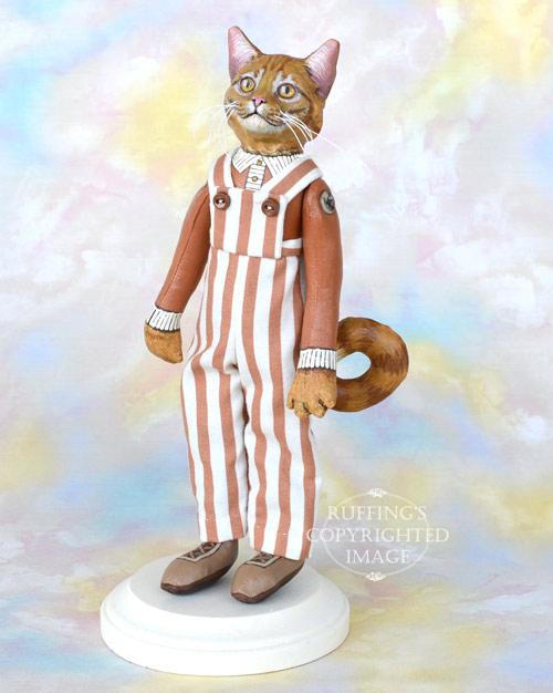 Randolf, Original One-of-a-kind Ginger Tabby Cat Art Doll by Max Bailey