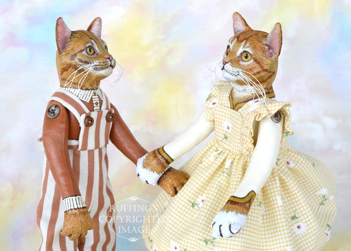 Maizie, Original One-of-a-kind Ginger Tabby Cat Art Doll by Max Bailey
