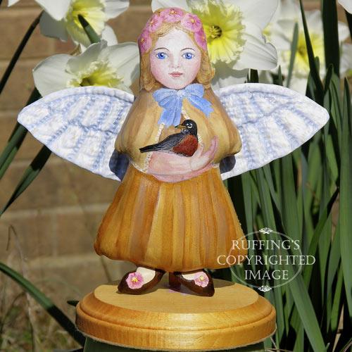 Robin, Original One-of-kind Folk Art Angel Doll by Elizabeth Ruffing