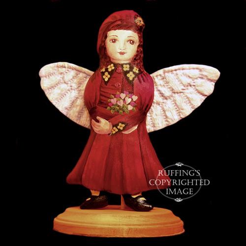 Rosetta, Original One-of-kind Folk Art Angel Doll by Elizabeth Ruffing
