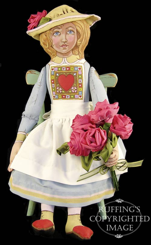 Rosie, Original One-of-a-kind Folk Art Doll by Max Bailey