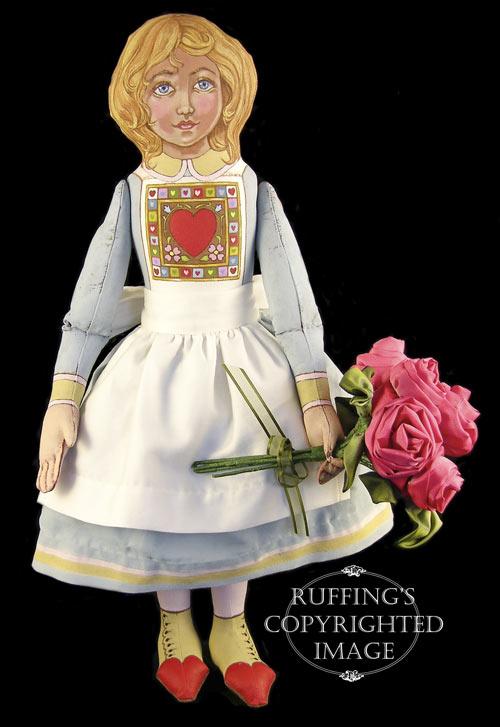 Rosie, Original One-of-a-kind Folk Art Doll by Max Bailey