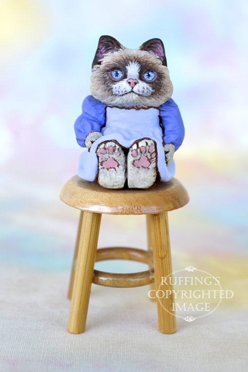 Rosie, Original One-of-a-kind Dollhouse-sized Ragdoll Kitten Art Doll by Max Bailey