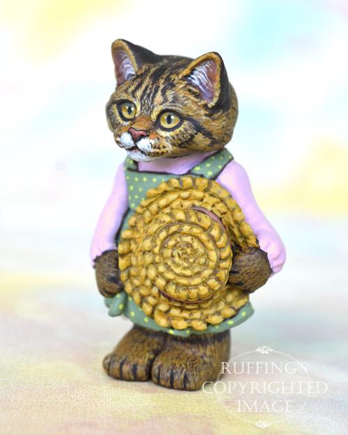 Skye, miniature Maine Coon cat art doll, handmade original, one-of-a-kind kitten by artist Max Bailey