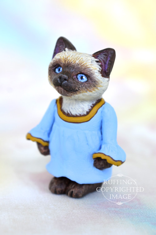 Sophia, Original One-of-a-kind Dollhouse-sized Siamese Kitten by Max Bailey