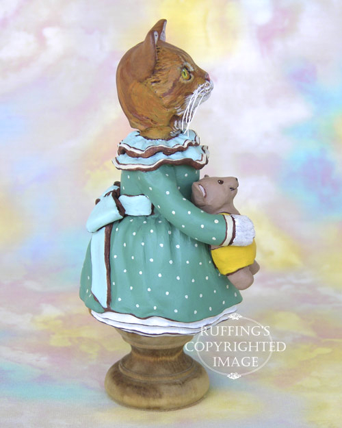 Suzannah the Ginger Tabby Cat, Original One-of-a-kind Folk Art Doll Figurine by Max Bailey