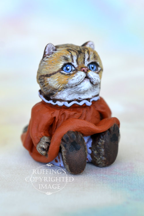 Taffy, Original One-of-a-kind Dollhouse-sized Persian Kitten by Max Bailey