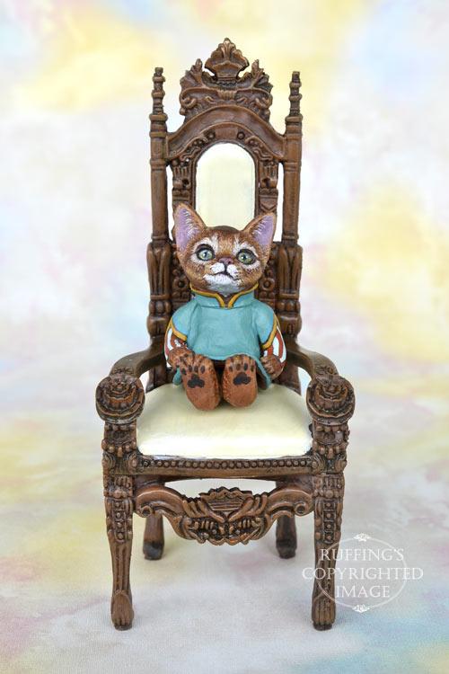 Talia, Original One-of-a-kind Miniature Abyssinian Kitten Art Doll by Max Bailey