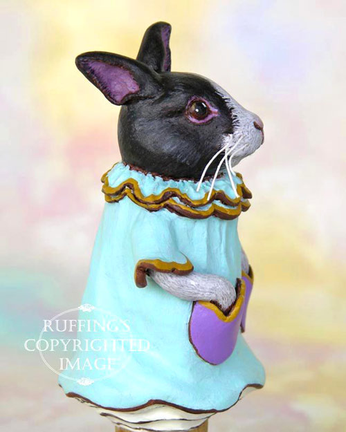 Tulip the Dutch Bunny, original rabbit figurine by Max Bailey