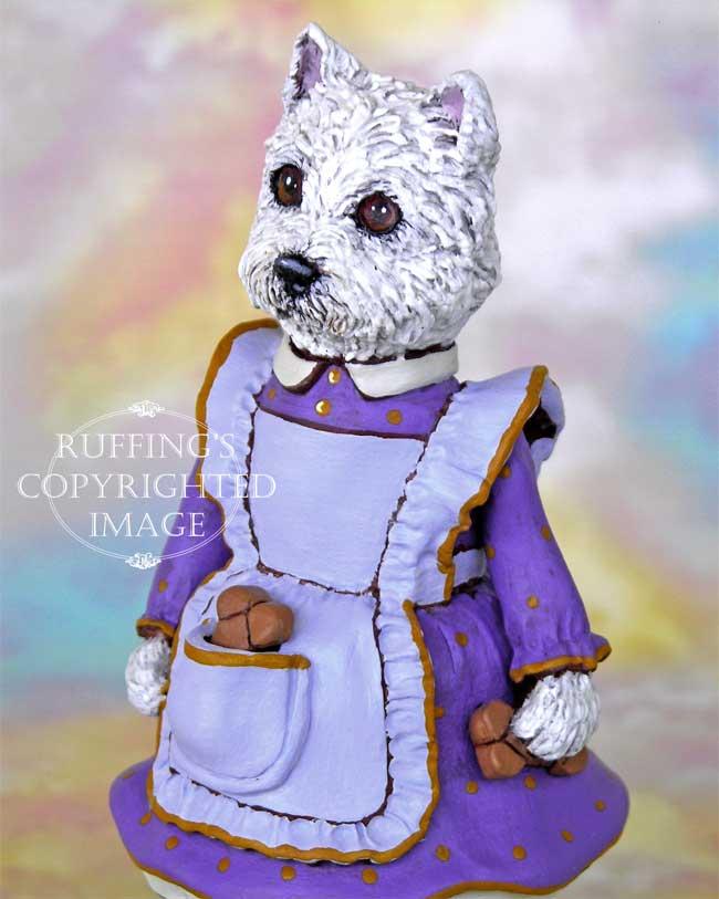 Wendy Westie, original one-of-a-kind West Highland Terrier folk art doll figurine by Max Bailey