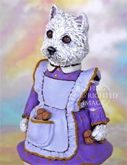 Wendy Westie, Original One-of-a-kind Folk Art Dog Doll Figurine by Max Bailey