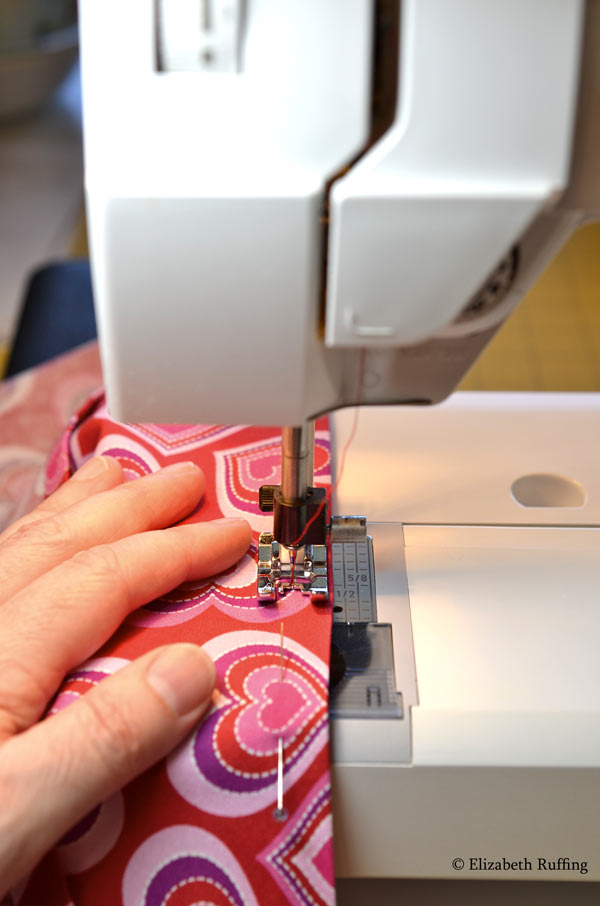 Sewing cat dolls skirts, Elizabeth Ruffing