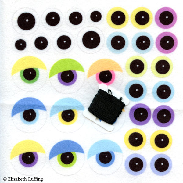 Fabric on Demand eyeball test swatch by Elizabeth Ruffing