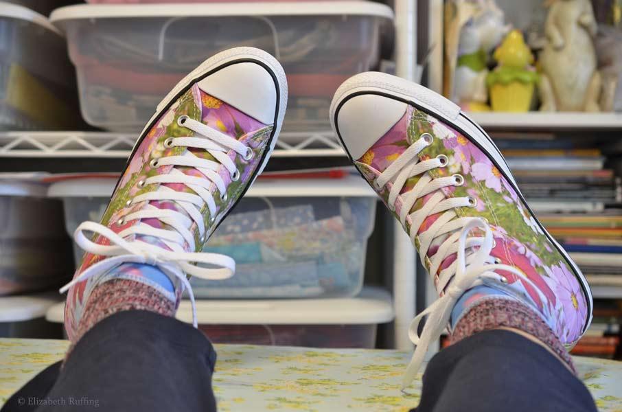 Wild flower Converse sneakers
