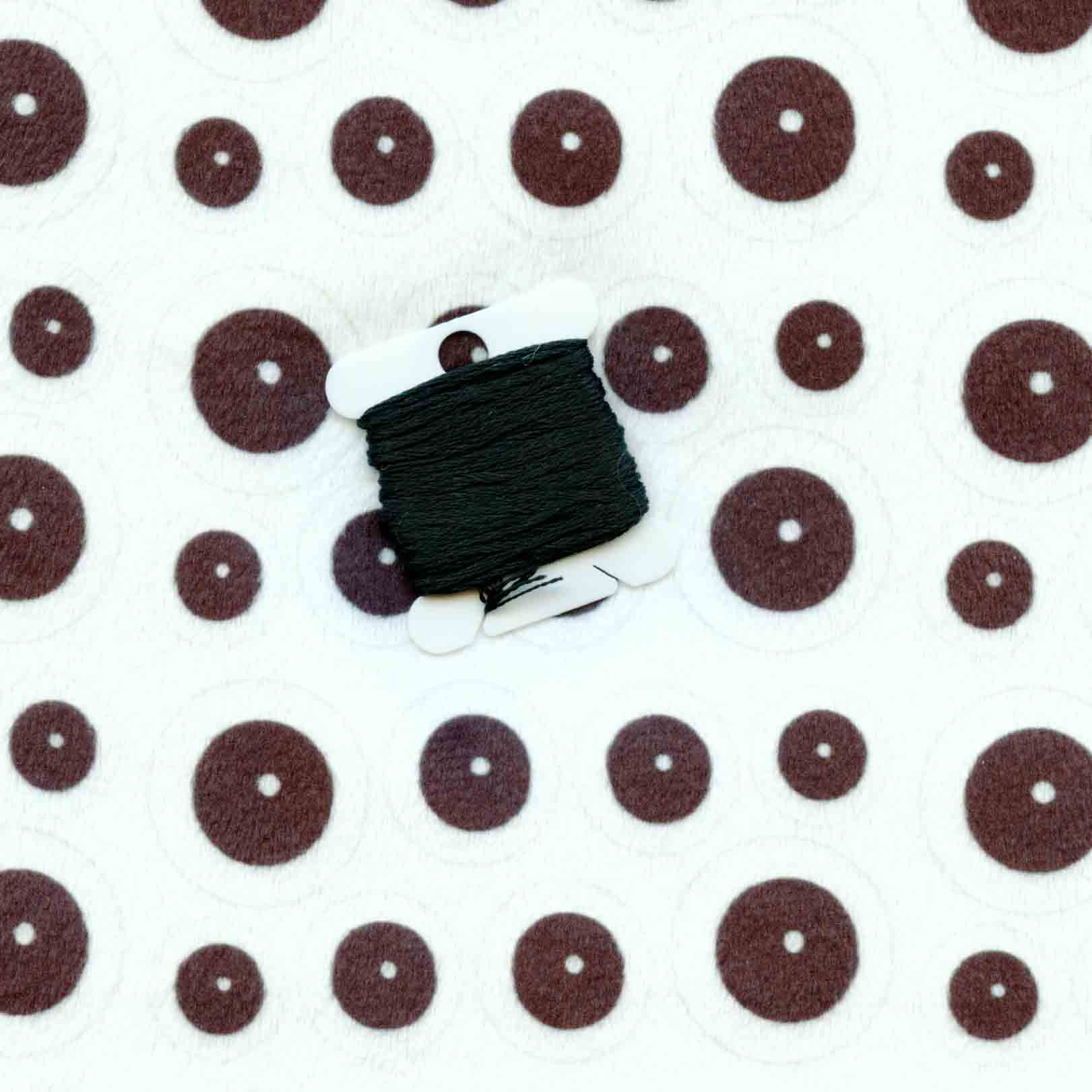 Spoonflower Minky eyeballs compared to black