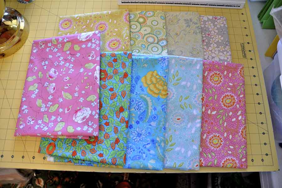 Cotton planet and stars quilting fabrics from Brooklyn Fabric Company