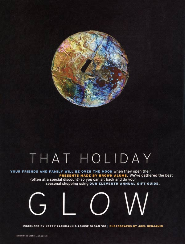 Brown Alumni Magazine, The BAM Holiday Gift Guide 2017, That Holiday Glow