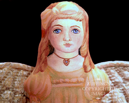 Serenity Starr, Painted Cloth Original Angel Art Doll by Elizabeth Ruffing
