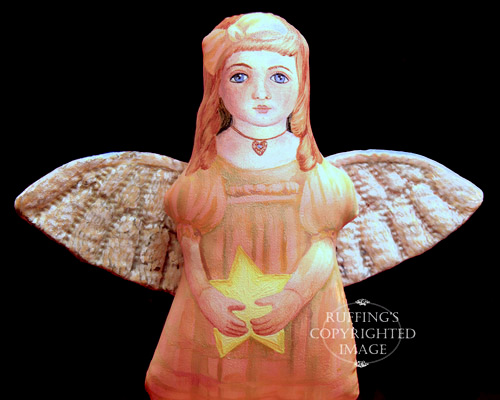 Serenity Starr, Painted Cloth Original Angel Art Doll by Elizabeth Ruffing