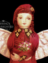 Rosetta, Painted Cloth Original Angel Art Doll by Elizabeth Ruffing