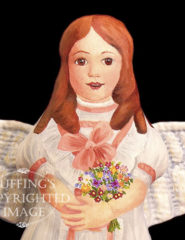 April May, Painted Cloth Original Angel Art Doll by Elizabeth Ruffing
