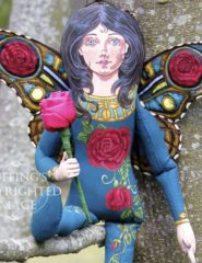 Rosalie the Red Rose Fairy, Original One-of-a-kind Art Doll by Max Bailey