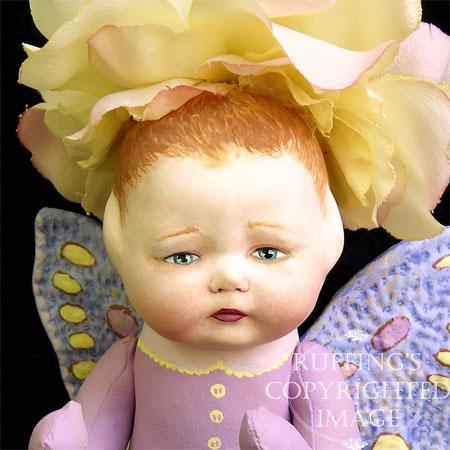 Rosa the Flower Baby, Original Fairy Art Doll by Elizabeth Ruffing