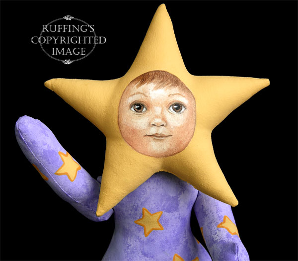 Leah the Star Baby, Original One-of-a-kind Art Doll by Elizabeth Ruffing