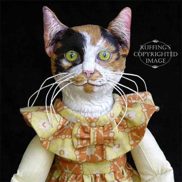 Hedda Original One-of-a-kind Calico Cat Art Doll by Max Bailey
