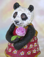 Miranda the Panda original one-of-a-kind art doll by Max Bailey