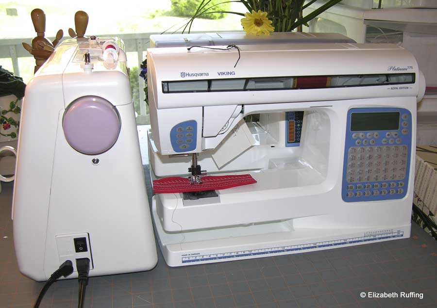 Husqvarna Viking Platinum 775 sewing machine, with my other sewing machines