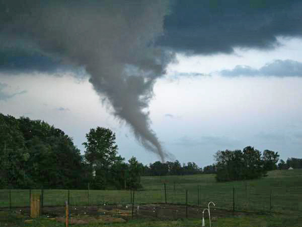 newly-formed tornado, photo from local news site