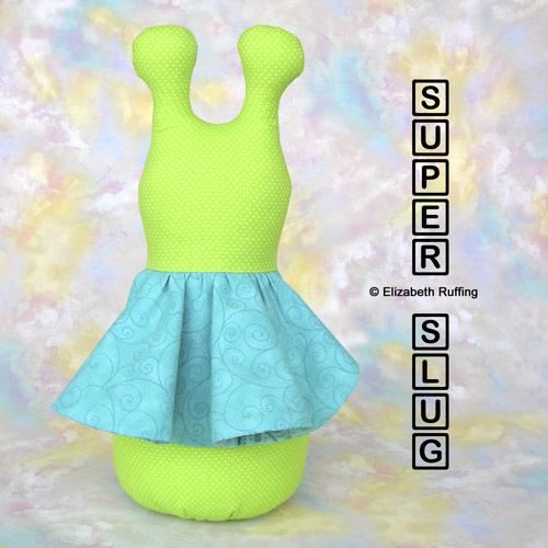 Bright light green 12 inch Super Slug by Elizabeth Ruffing