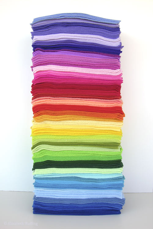 Stack of fleece colors for Hug Me! Slugs