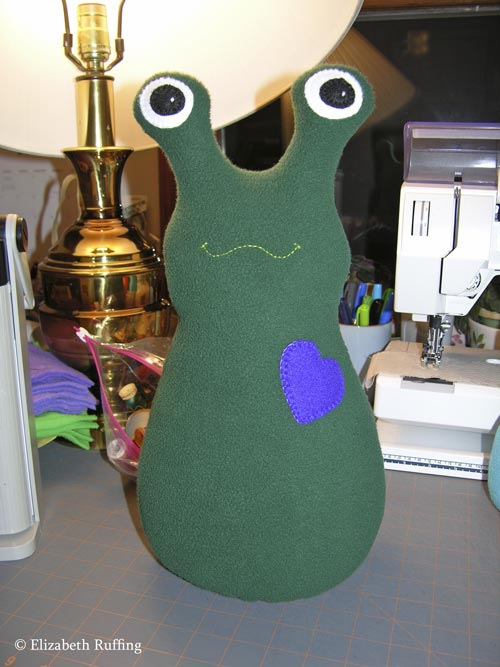 14 inch Fleece Hug Me! Slug by Elizabeth Ruffing
