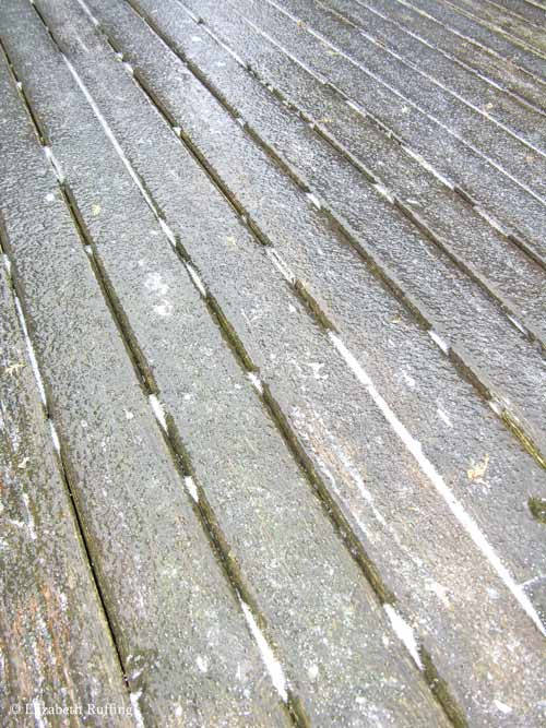 Sheet of ice on the deck
