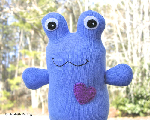 Mary the Hug Me Sock Toad by Elizabeth Ruffing