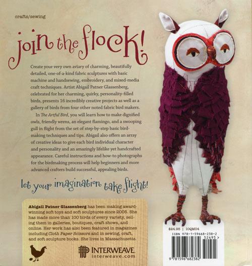The Artful Bird by Abigail Patner Glassenberg, back cover