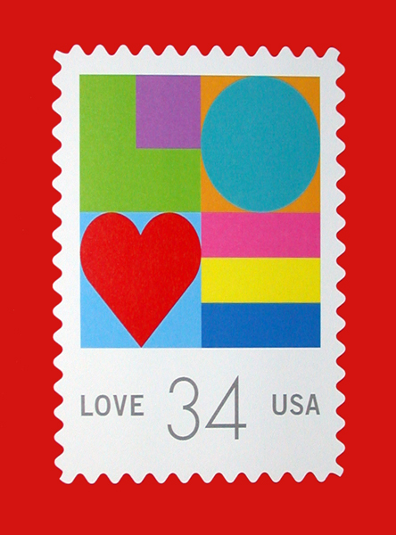 2002 Love Stamp by Michael Osborne from the US Post Office