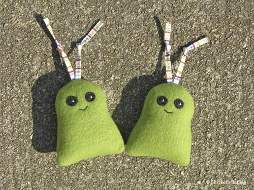 Fleece catnip toys by Elizabeth Ruffing