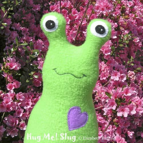 Fleece Hug Me Slugs by Elizabeth Ruffing