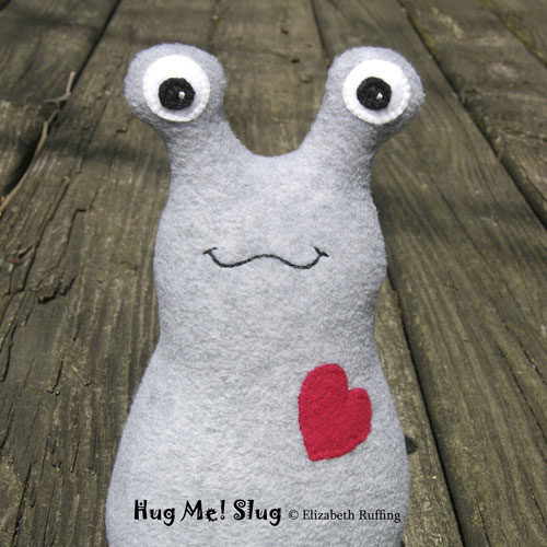 Gray Fleece Hug Me Slug by Elizabeth Ruffing
