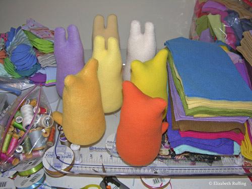 Hug Me Art Toys by Elizabeth Ruffing, in progress