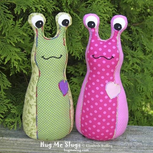Hug Me Slugs by Elizabeth Ruffing, cotton print fabrics