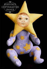 Leah the Star Baby, Original One-of-a-kind Fairy Art Doll by Elizabeth Ruffing