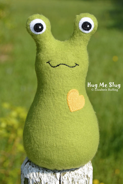Olive Fleece Hug Me Slug by Elizabeth Ruffing