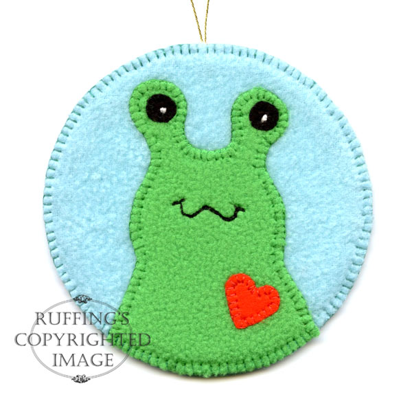 Fleece Hug Me Slug Keepsake Christmas Ornament by Elizabeth Ruffing
