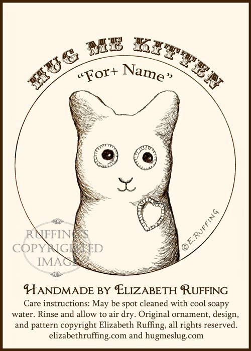 Fleece Hug Me Kitten Keepsake Christmas Ornament by Elizabeth Ruffing